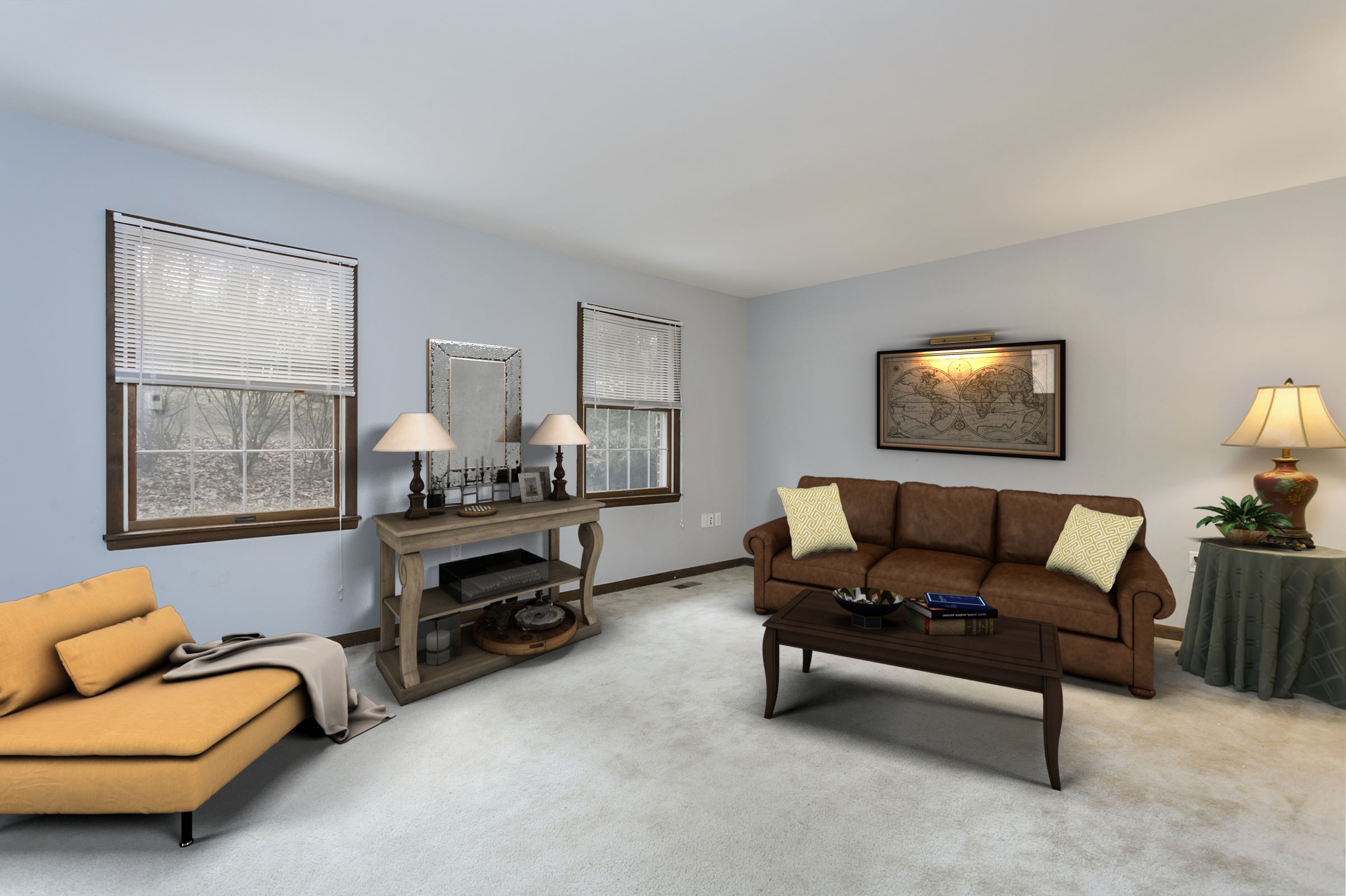 Sykesville MD Living Room Virtual Staging
